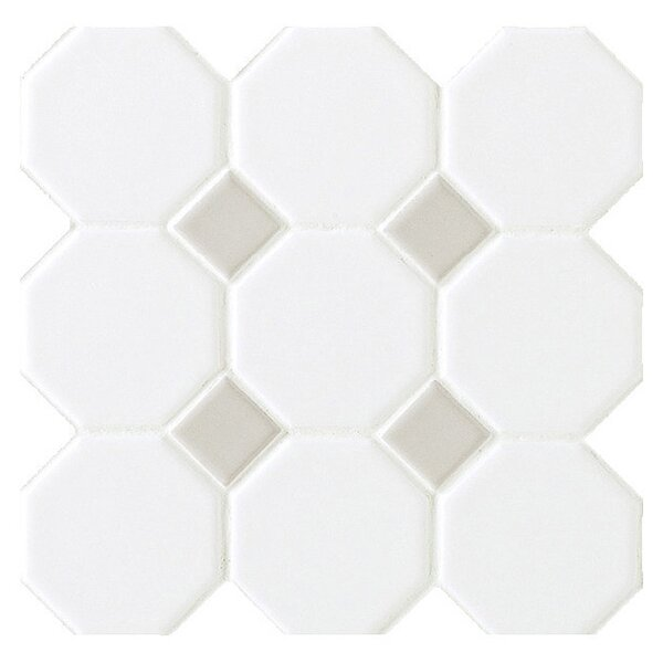 Octagon Floor Tile aliexpresscom buy octagon carrara white marble mosaic tiles for kitchen backsplash bathroom wall tile sticker floor tiles from reliable tile for walls Daltile Octagon And Dot 2 X 2 Ceramic Mosaic Tile In Glazed Matte White With Gray Gloss Dot Reviews Wayfair