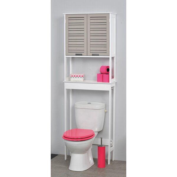 Evideco so romantic 24 8 w x 70 5 h over the toilet for Meuble tv centrakor