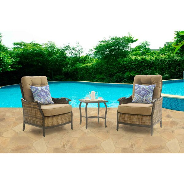Hanover Hudson 3 Piece Deep Seating Group With Cushion