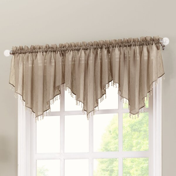 No. 918 Erica Crushed Sheer Voile Beaded Curtain Valance