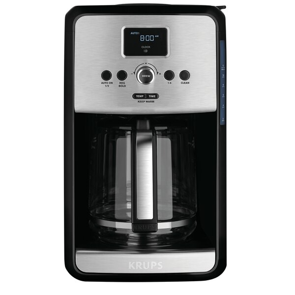 Krups Savoy Programmable Filter Stainless Steel Coffee Maker & Reviews Wayfair