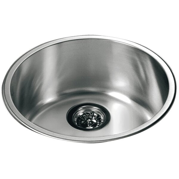 dawn usa 165 x 165 top mount round single bowl kitchen sink reviews wayfair - Round Sinks Kitchen