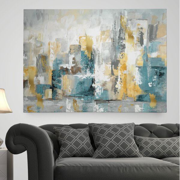 wexfordhome 39city views i39 painting print on wrapped With what kind of paint to use on kitchen cabinets for bed bath and beyond wall art canvas