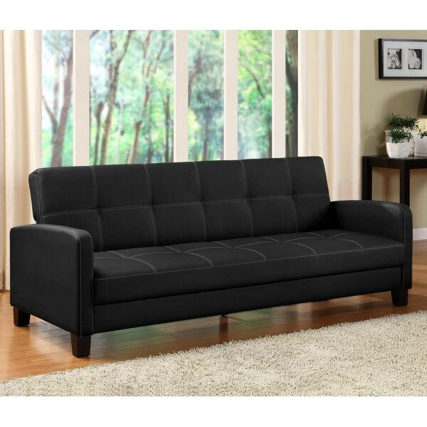 Faux Leather Sofa Beds Youll Love – Mainstays Sleeper Sofa