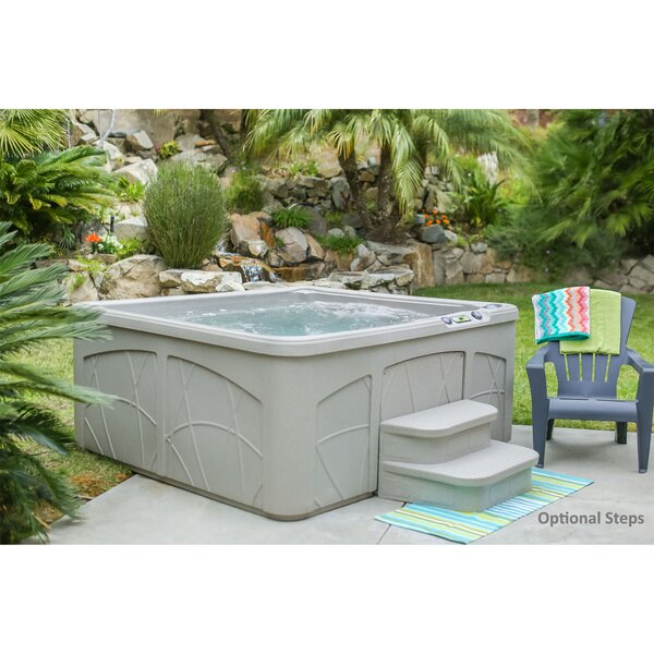 Lifesmart spas retreat dlx 5 person 28 jet plug and play for Waterfall swing set