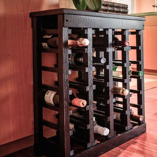 El Mar 24 Bottle Floor Wine Rack Amp Reviews Wayfair