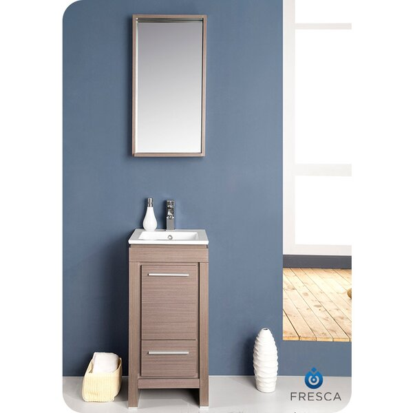 small bathroom vanity mirrors fresca allier 16 quot single small modern bathroom vanity set 20521