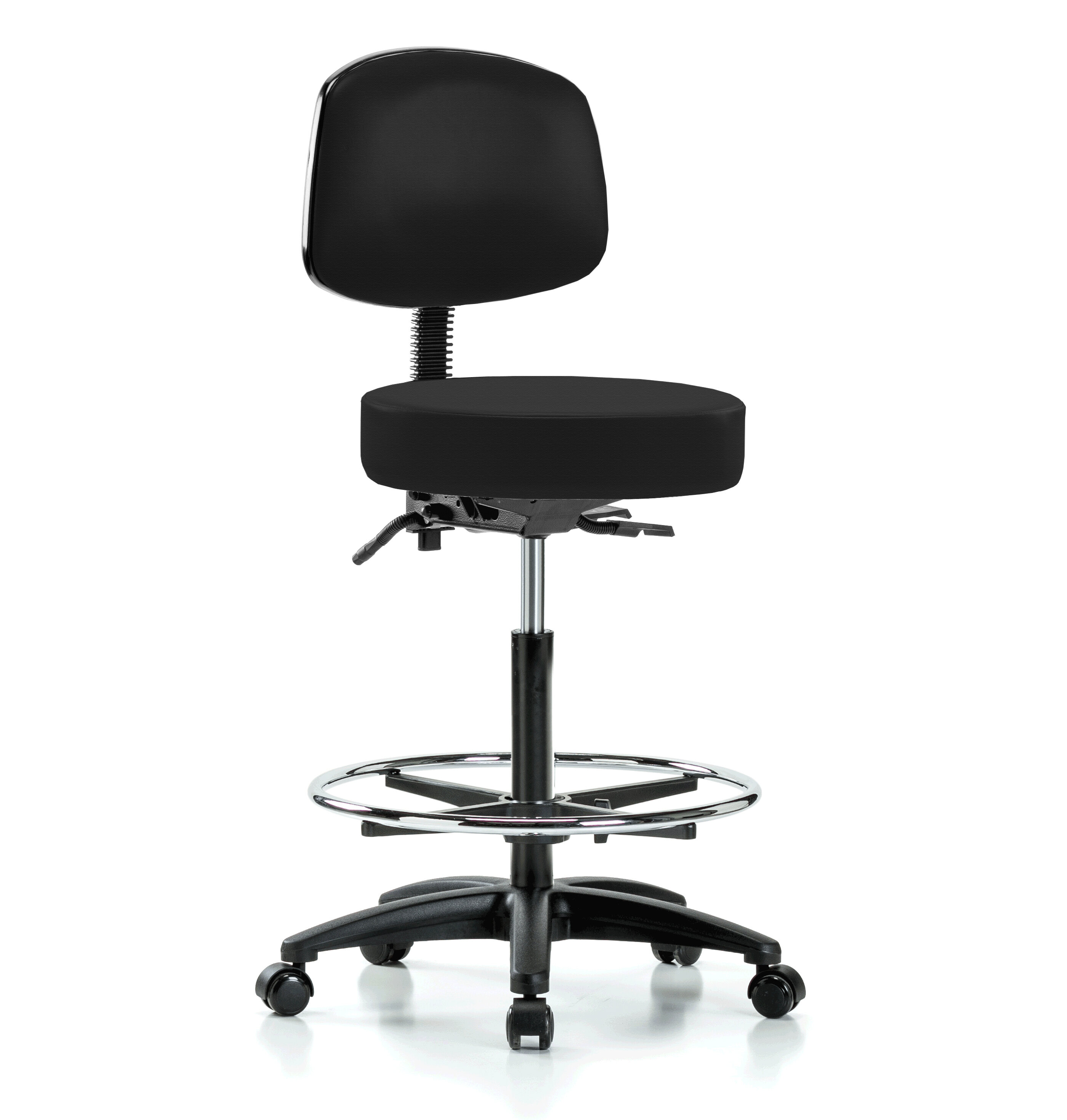 Admirable Height Adjustable Doctor Stool With Foot Ring Caraccident5 Cool Chair Designs And Ideas Caraccident5Info