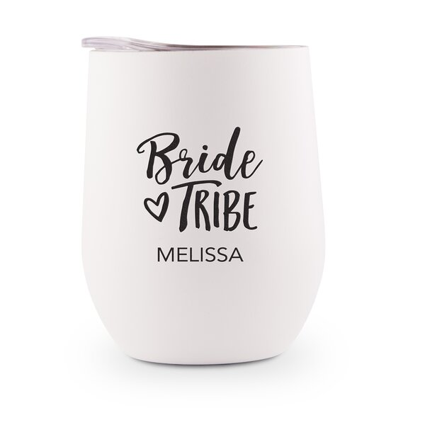 Scannell Bride Tribe Printing Personalized 9 oz. Stainless Steel Travel Tumbler by Ebern Designs