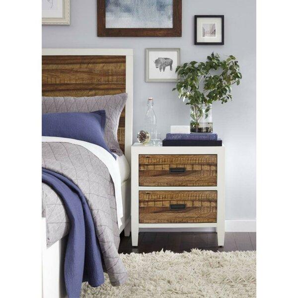 Olivas Wooden 2 Drawer Nightstand by Williston Forge