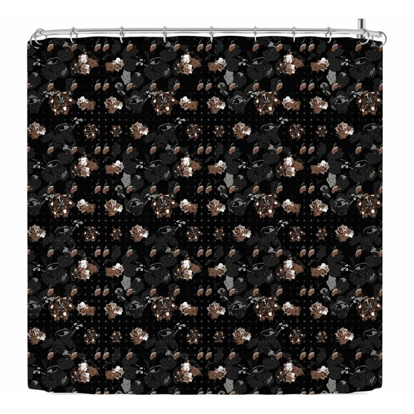 Elena Ivan - Papadopoulou Floral Series Goldy Shower Curtain by East Urban Home