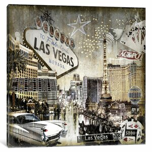 'Las Vegas' Graphic Art Print on Canvas by East Urban Home