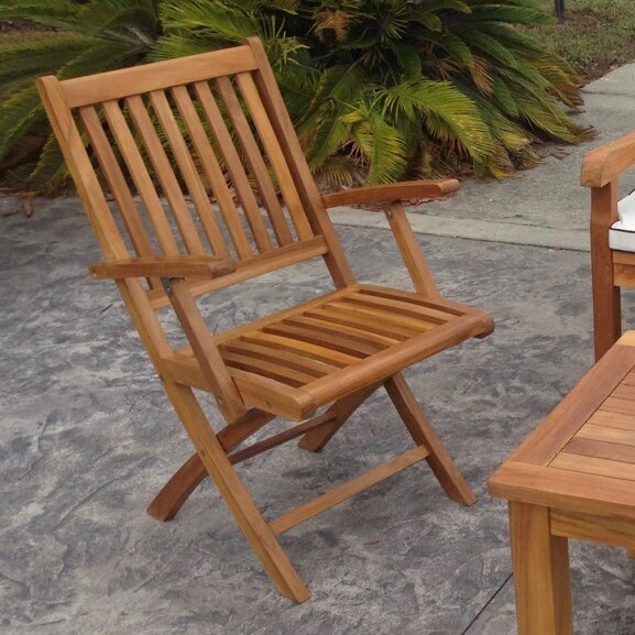 Santa Barbara Folding Patio Dining Chair (Set of 2) by Chic Teak