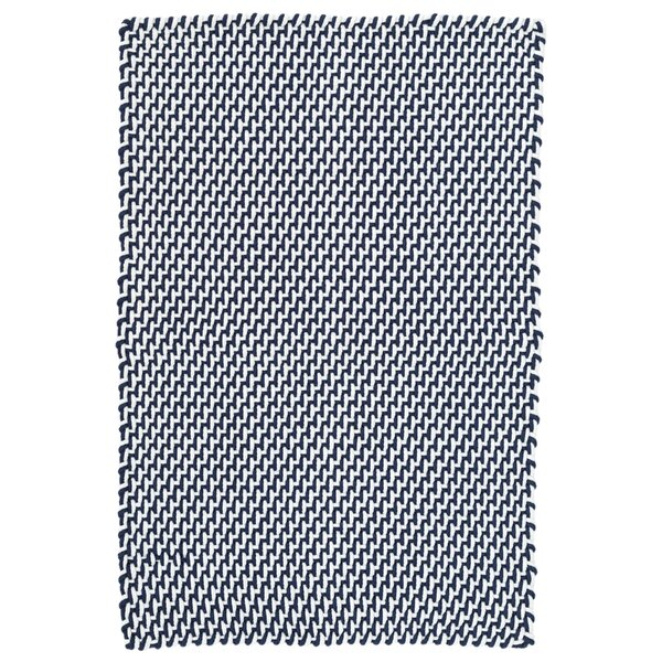 Two-Tone Rope Navy/White Indoor/Outdoor Area Rug by Dash and Albert Rugs