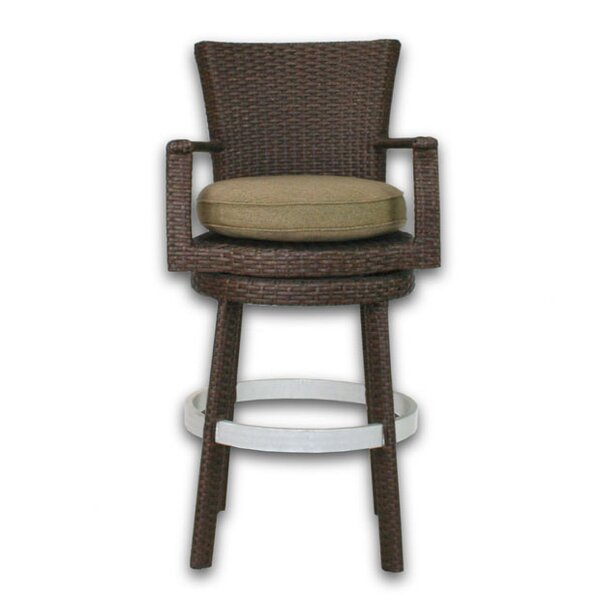 Signature 27.75 Patio Bar Stool with Cushion by Patio Heaven