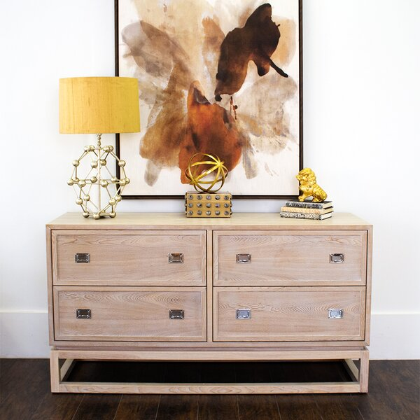 4 Drawer Double Dresser by Worlds Away Worlds Away