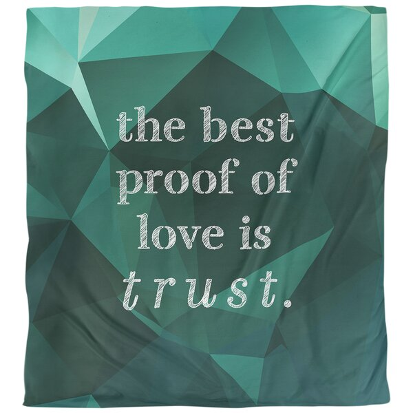 Love and Trust Quote Single Duvet Cover