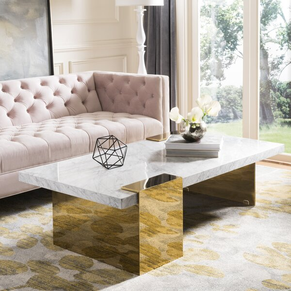 Kuhl Marble Coffee Table by Everly Quinn Everly Quinn