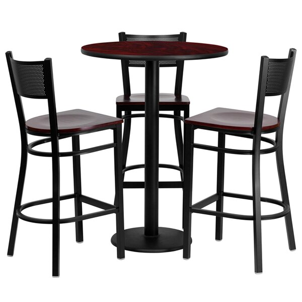Lomonaco 4 Piece Pub Table Set by Winston Porter