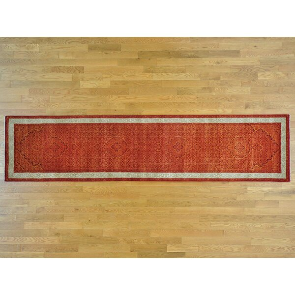 One-of-a-Kind Beaton Handwoven Orange Wool/Silk Area Rug by Isabelline