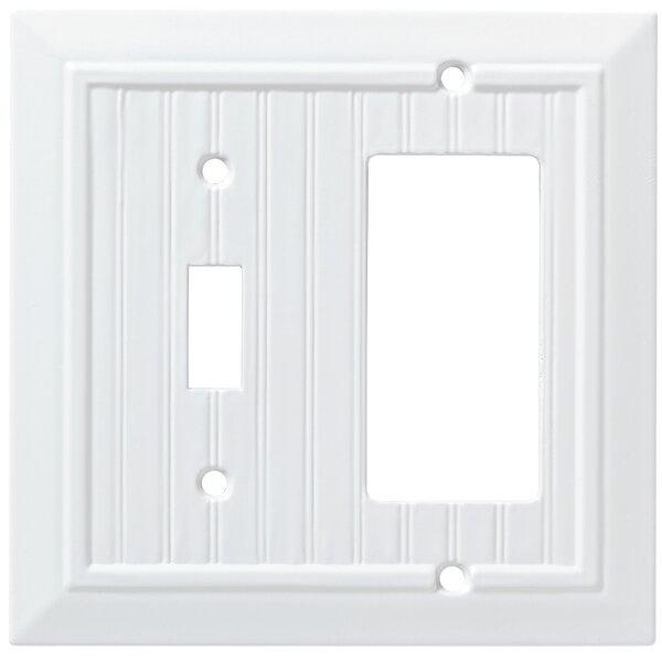 Classic Beadboard Single Switch Decorator Wall Plate by Franklin Brass