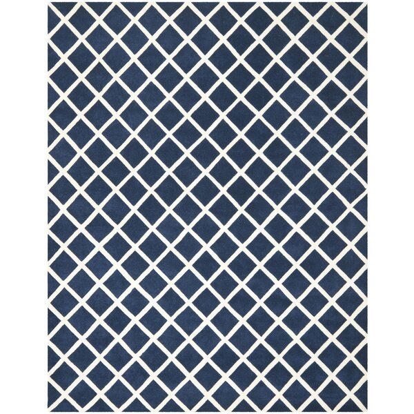 Wilkin Dark Blue / Ivory Rug by Wrought Studio