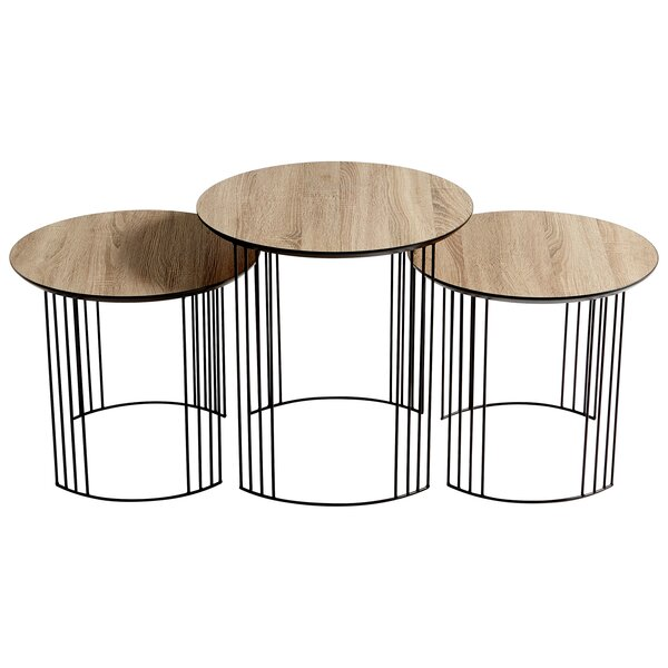 Electric Moon 3 Piece Nesting Tables By Cyan Design
