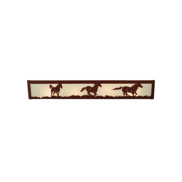 Wild Horses 4-Light Bath Bar by Meyda Tiffany