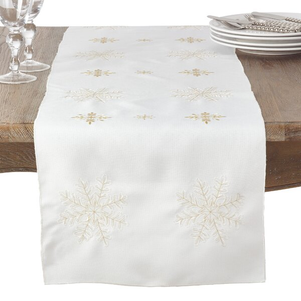 Neve Snowflake Table Runner by Saro