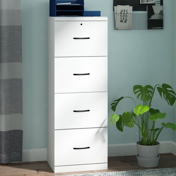 4 Drawer Vertical Filing Cabinet By Symple Stuff.