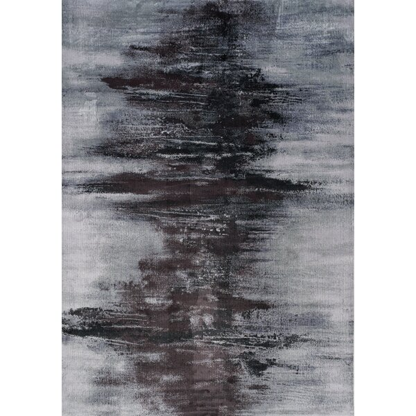 Basil Centred Resolution Gray Area Rug by Latitude Run