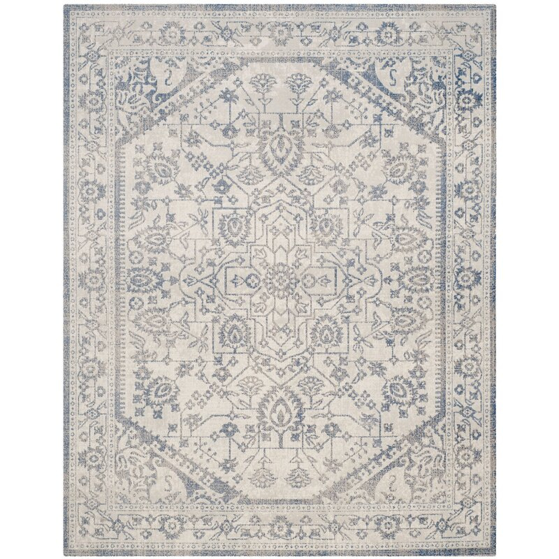 Safavieh Patina Power Loom Light Gray Amp Blue Area Rug