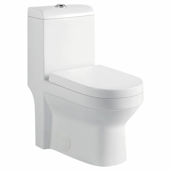1.28 GPF (Water Efficient) Round One-Piece Toilet (Seat Included) by LessCare