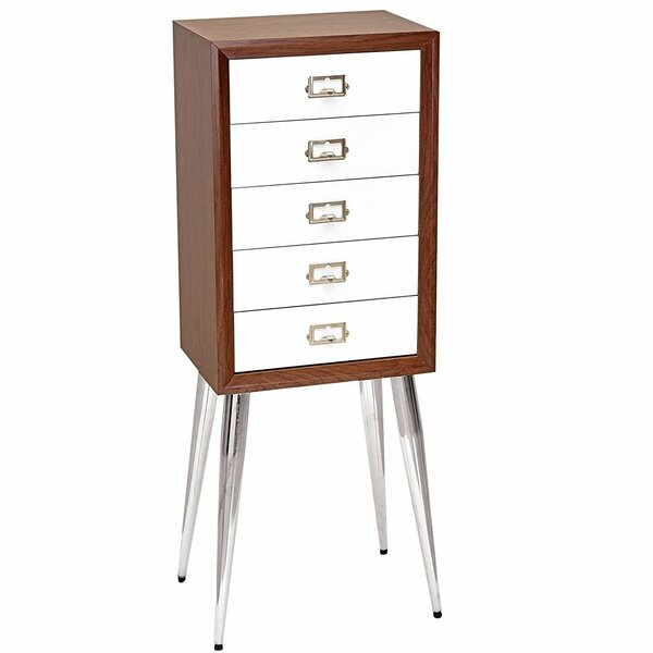 Flanary Rectangular Free Standing Jewelry Armoire by Latitude Run
