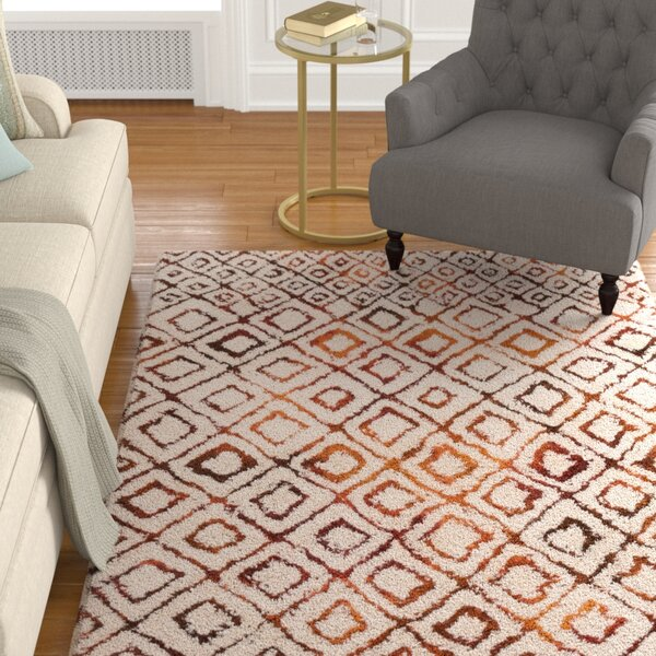 Benson Hand-Woven Ivory/Spice Area Rug by Foundry Select