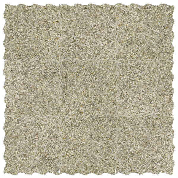 Kamyk Mini 12.25 x 12.25 Pebble Stone Mosaic Tile in Beige by EliteTile