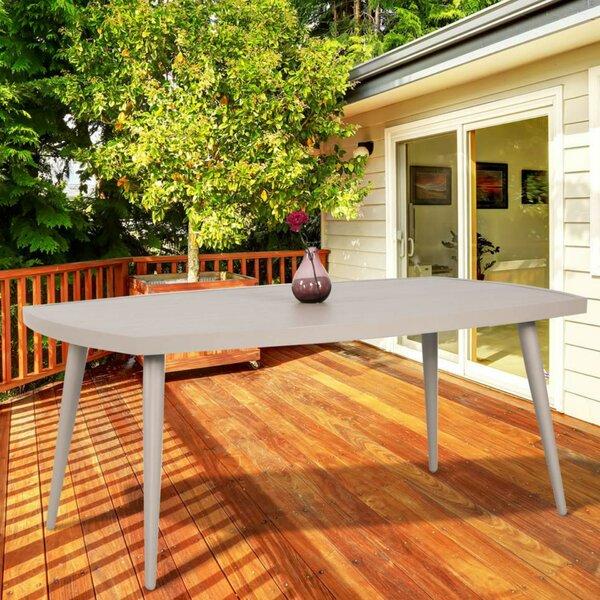 Aurora Metal Dining Table by Latitude Run