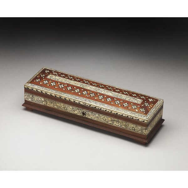 Denson Bone Inlay Wood Storage Box by Bungalow Rose