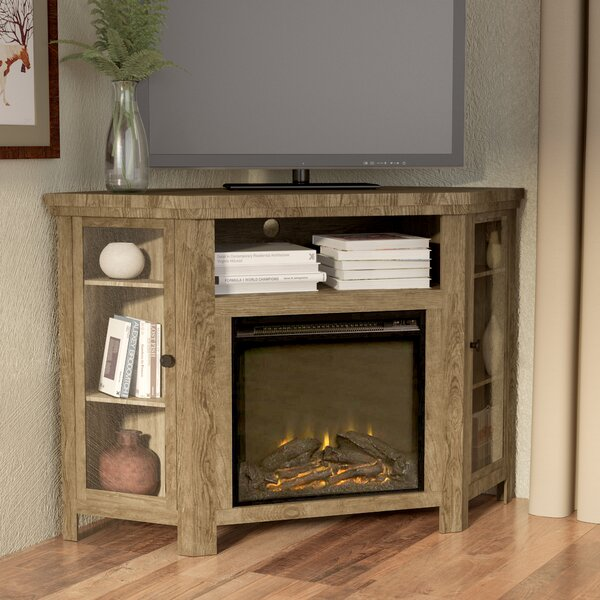 Tieton Corner 48 TV Stand with Fireplace by Mistan