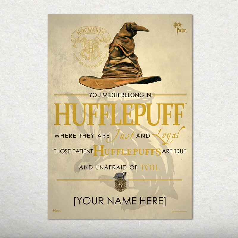 MightyPrint Harry Potter (Sorting Hat Hufflepuff - Personalized ...