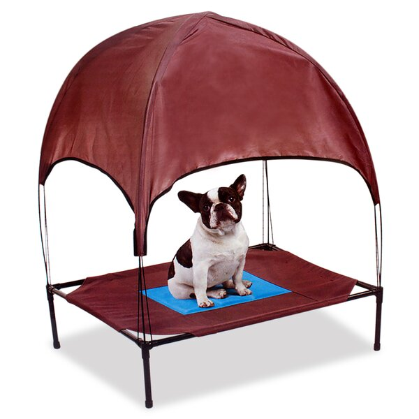 Ironwood Relaxing Pet Cool Cooling Cot with Removable Canopy by Tucker Murphy Pet