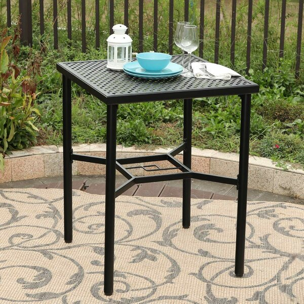 Benesh Metal Bar Table by Winston Porter