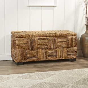 Best Reviews Frida Woven Storage Bench By Bay Isle Home