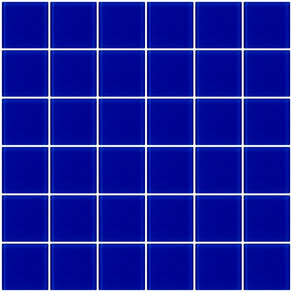 Bijou 22 2 x 2 Glass Mosaic Tile in Cobalt Blue by Susan Jablon