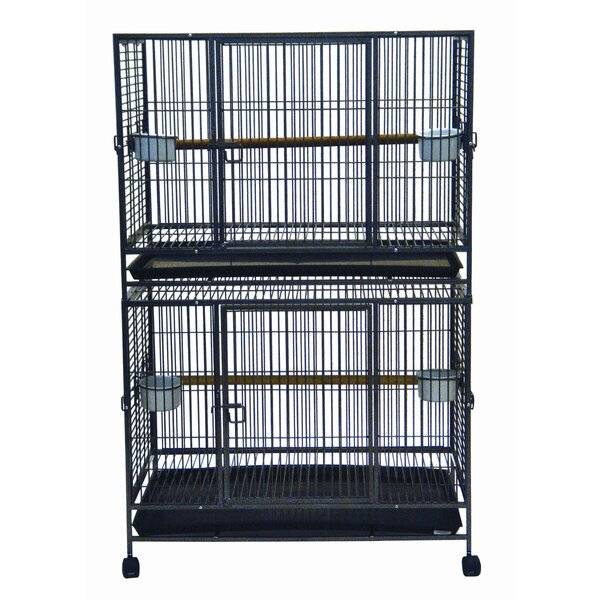 Flat Top Double Bird Cage by YML