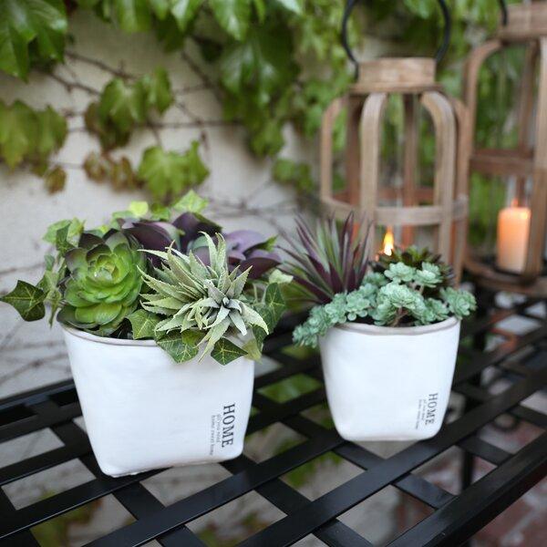 Cumbie Round Home Label 4 Piece Cement Pot Planter Set by Williston Forge