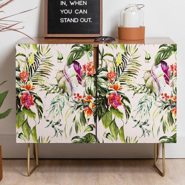 Marta Barragan Camarasa Exotic Jungle Bouquet Credenza by East Urban Home East Urban Home