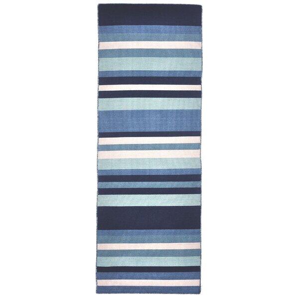 Ranier Hand-Woven Blue Indoor/Outdoor Area Rug by Beachcrest Home