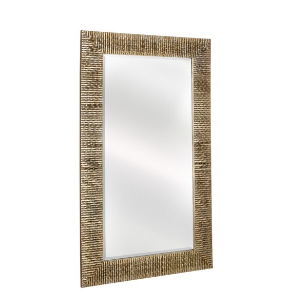 Large Rectangular Stylish Silver Framed Beveled Glass Wall Mirror by Majestic Mirror