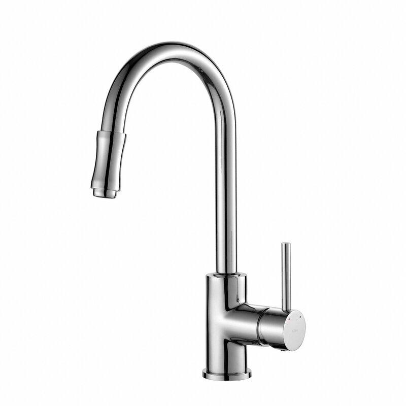 Premium Faucets Pull Down Single Handle Kitchen Faucet